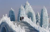 شهر یخی آب شد +تصاویر
