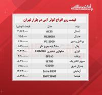 قیمت جدید کولر آبی (۱۴۰۰/۰۶/۰۷)