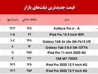قیمت جدیدترین تبلتهای بازار +جدول