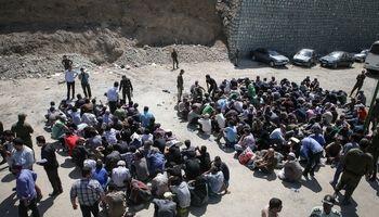 جمعآوری معتادان دره فرحزاد در پی احتمال سیل