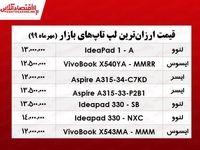 ارزانترین لپ تاپهای بازار چند؟  +جدول