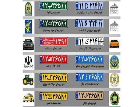 جزییات پلاکهای جدید ملی +اینفوگرافیک