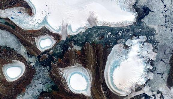 جزیره یخ زده در عکس روز ناسا