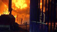 سقوط وحشتناک هلیکوپتر در انگلیس +فیلم