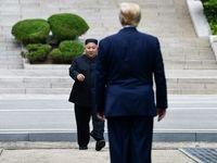دیدار ترامپ و کیم جونگ اون در خاک کره شمالی +تصاویر