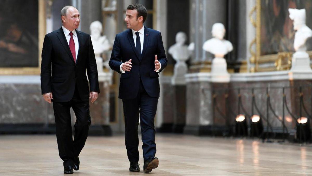 مکرون به پیشنهاد پوتین پاسخ مثبت داد