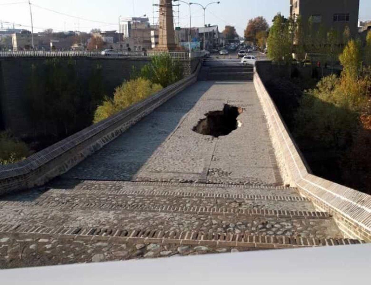 عملیات سبک سازی پل تاریخی کرج آغاز شد