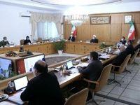 اولین جلسه هیات دولت در دو سالن جداگانه +عکس
