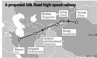 اتصال خط ریلی جدید از چین به ایران