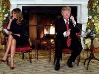 تبریک کریسمس به شیوه ملانیا و دونالد ترامپ +تصاویر