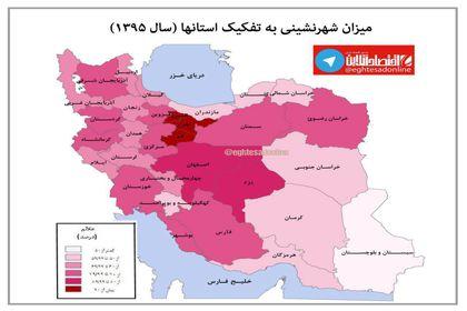 شهرنشینی در سطح استانها در سال۱۳۹۵ +اینفوگرافیک