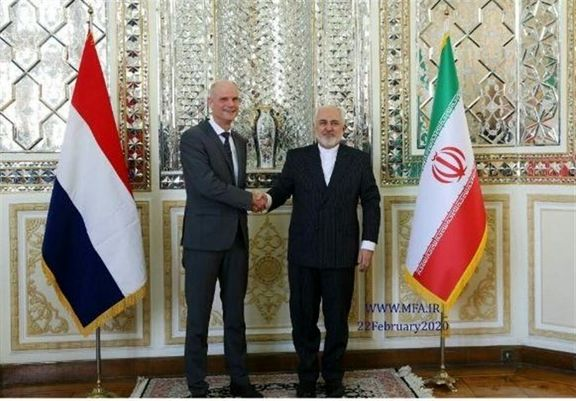 وزیر خارجه هلند با ظریف دیدار کرد