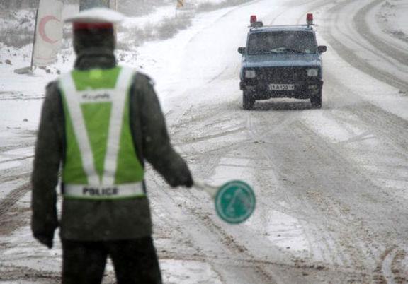 جادههای 8استان برفی و بارانی
