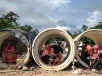روزگار سخت مسلمانان میانماری +عکس