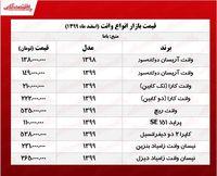 قیمت وانت در هفته اول اسفند +جدول
