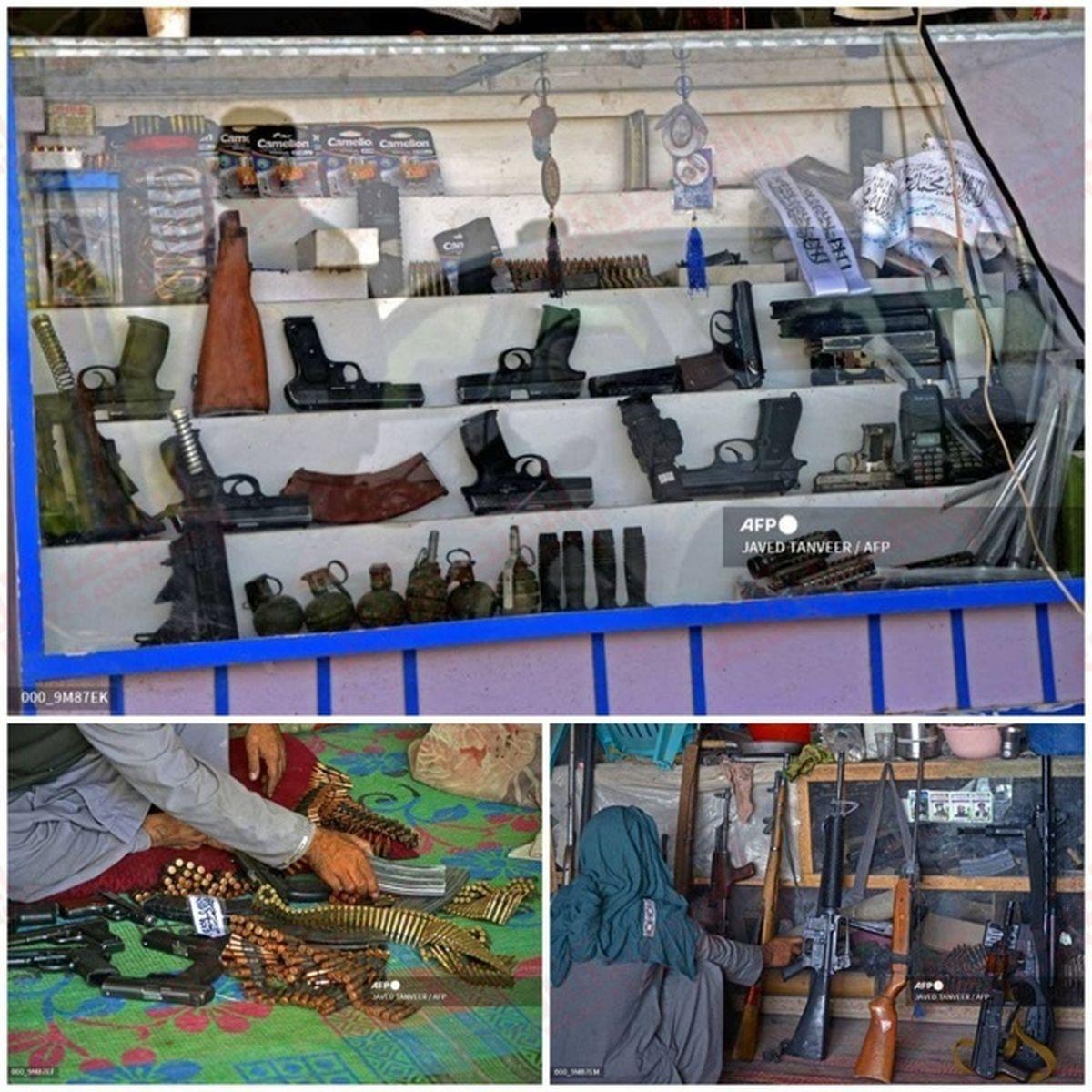 اسلحه فروشی در افغانستان تحت حکومت طالبان + عکس