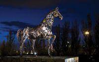 خلق مجسمههای فلزی از ضایعات آهنی +تصاویر