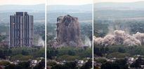 تخریب برج 21 طبقه در 14 ثانیه +تصاویر