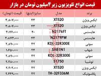 ارزان قیمتترین تلویزیونهای بازار چند؟ +جدول