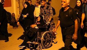 عبور شبانه زائرین اربعین از مرز شلمچه +عکس