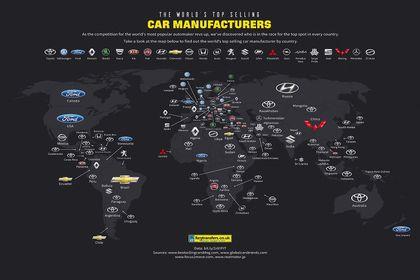 محبوبترین خودروسازیهای جهان +اینفوگرافیک