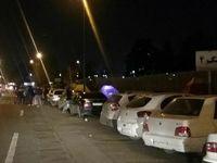 حضور پرشمار هواداران سرخابی شب در مقابل آزادی +تصاویر