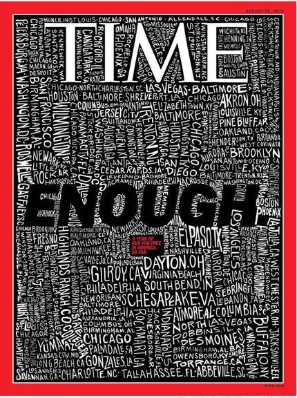 جلد مجله تایم در واکنش به تیراندازیهای اخیر آمریکا