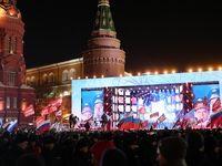 جشن پیروزی پوتین در انتخابات ریاست جمهوری +عکس
