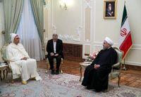 لباس متفاوت سفیر مغرب در دیدار با روحانی +عکس