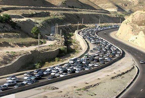 ترافیک نیمهسنگین در محور کرج-چالوس