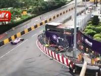تصادف وحشتناک خودرو در مسابقات فرمول 3 +فیلم