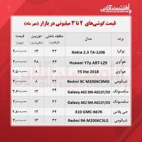 قیمت گوشی (محدوده ۳ میلیون تومان/ ۲۶مهر )
