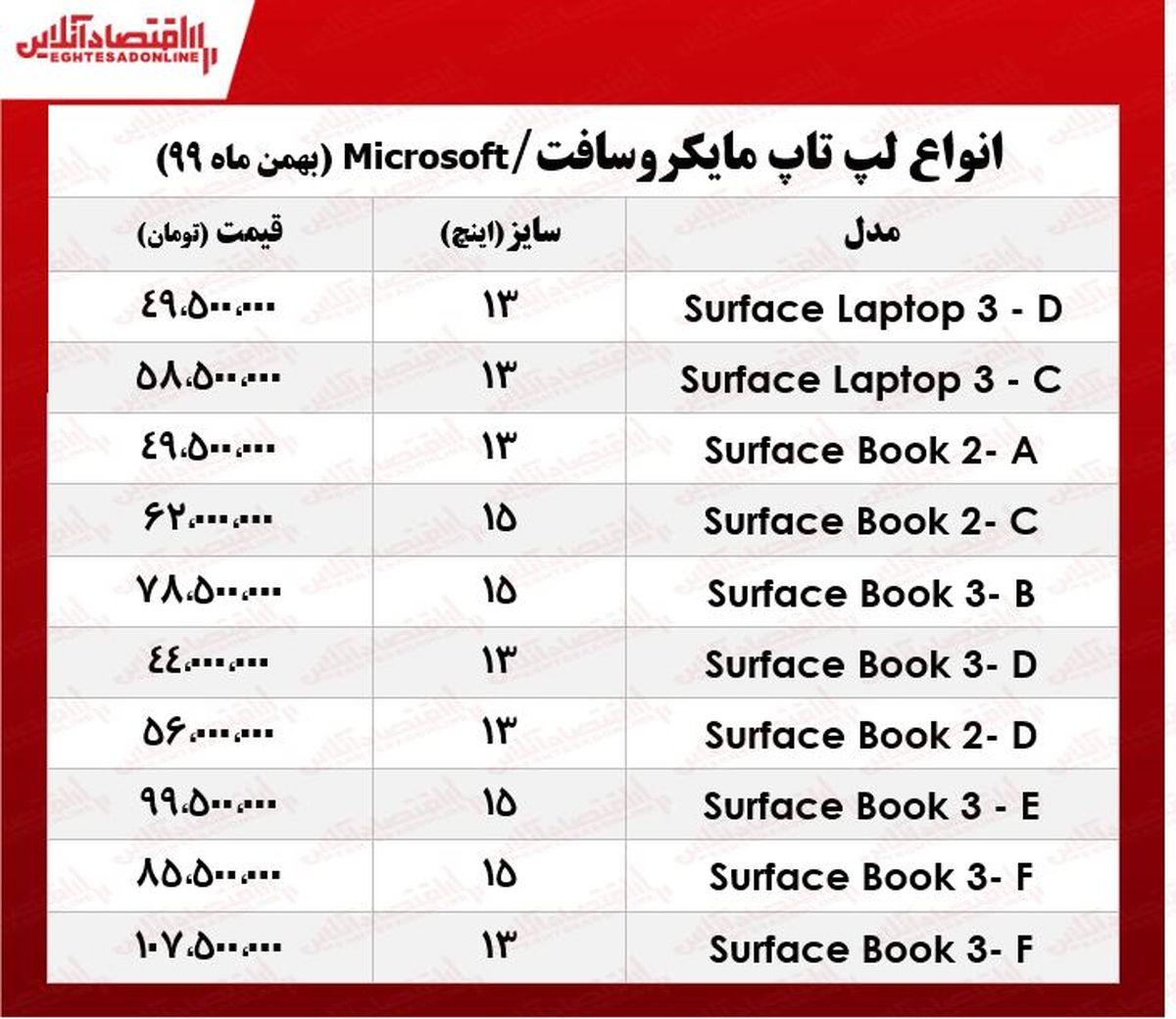 لپ تاپ مایکروسافت چند؟