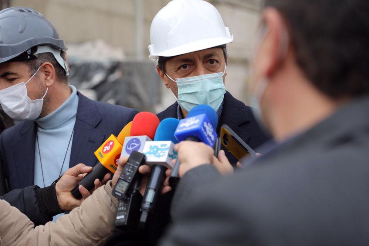 آماده شدن نمای ساختمان پلاسکوی جدید تا پایان بهمنماه/ هیچ مورد پنهانی در ساخت پلاسکو نداریم