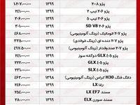 قیمت خودروهای ایرانخودرو +جدول