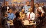 رمزگشایی از تابلوی عجیب نقاشی در اتاق ترامپ +عکس