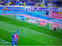 دقیقه43 اعلام پنالتی به نفع استقلال +فیلم