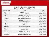 انواع تشک برقی در بازار چند؟ +جدول