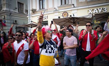 حضور طرفداران تیم های حاضر در جام جهانی در مسکو +عکس