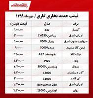 پاییز امسال بخاری گازی را چند بخریم؟ +جدول