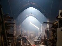 آتش سوزی و تخریب سر در کاروانسرای ملاحسین +تصاویر