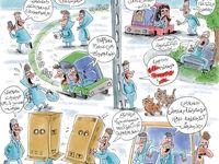 چند نما از آزار خیابانی زنان! (کاریکاتور)