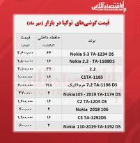 قیمت گوشی نوکیا در بازار / ۲۰مهر