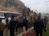 یگانهای ارتش در دروازه قرآن شیراز مستقر شدند +تصاویر