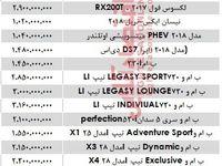 قیمت خودروهای میلیاردی در بازار تهران؟ +جدول