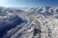برف و کولاک راه دامغان به کیاسر مازندران را بست