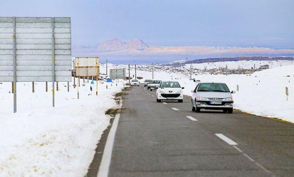 جادههای ۹استان کشور برفی و بارانی است