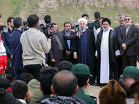 روحانی: روستای چممهر را زیباتر و مستحکمتر خواهیم ساخت