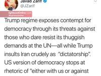 انتقاد ظریف از تهدید کشورهای مستقل توسط ترامپ