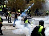 جلیقهزردها شبکههای خبری فرانسه را محاصره کردند